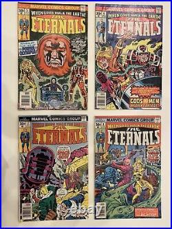 The Eternals Marvel Vol. 1, No. 1 10 run 1976 Comic Book Lot Rare Kirby