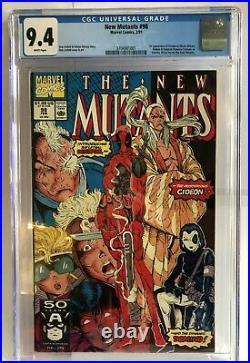 The New Mutants vol 1 #98 (Feb 1991, Marvel) CGC grade 9.4