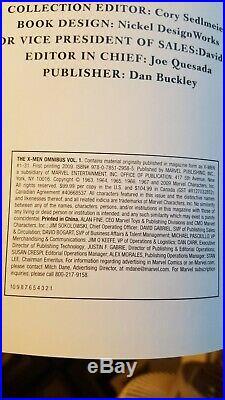 The X-Men MARVEL COMICS Omnibus Vol. 1 RARE ALEX ROSS Cover art OOP 1st Print