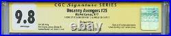 Uncanny Avengers Vol 3 25 CGC 9.8 SS X2 Jim Lee Rogue cover Stan Lee Human Torch