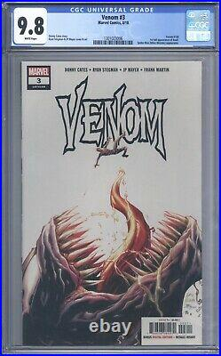 Venom #3 CGC 9.8 Vol 1 1st Full Appearance of Knull Spider-Man Appearance