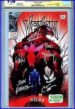 Venom Vol 4 1 CGC 9.8 SS X5 McFarlane Michelinie Romita Sotomayor sketch ASM 50