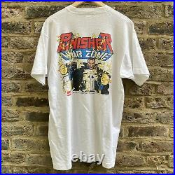 Vintage Marvel Punisher Tshirt 1992 Warzone Vol 1 John Romita Jr Artwork, XL VTG