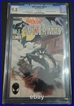 WEB OF SPIDER-MAN #1 (April 1985 Vol 1 Marvel) CGC 9.8 (NM/M) WHITE pages