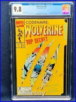 Wolverine #50 Vol 2 Comic Book CGC 9.8 Die-cut Cover