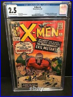 X-Men 4 CGC 2.5 (1964 Vol 1) OWithWhite 1st App Scarlet Witch Quicksilver Toad