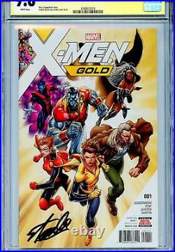 X-Men Gold Vol 2 1 CGC 9.8 SS 1st print cover Stan Lee Wolverine Prestige Storm