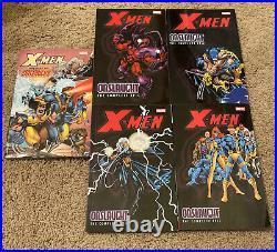 X-Men Onslaught The Complete Epic Vol 0 1 2 3 4 TPB OOP Lot Set Marvel Omnibus