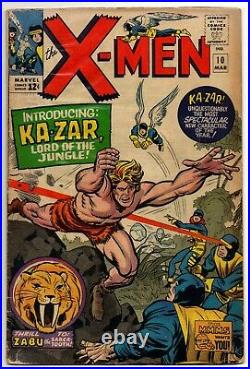 X-Men Vol 1 No 10 Mar 1965 (VG) (4.0) 1st app Ka-Zar, Silver Age (1956 1969)